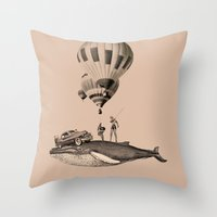 fig Throw Pillows featuring fig.8 by TRASH RIOT