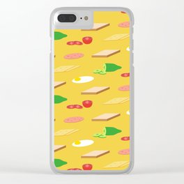 Breakfast Pattern Clear iPhone Case