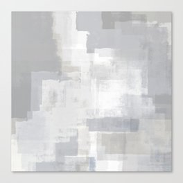 Gray on Grey Abstract Canvas Print