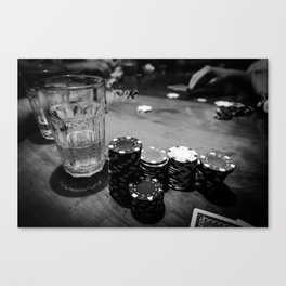 Poker Time Canvas Print