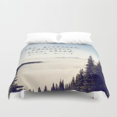 the greatest adventure- mountains Duvet Cover