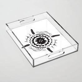 Native Amrican STEM Mandala Southwestern Acrylic Tray