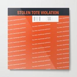 Stolen Chicago Tote Metal Print