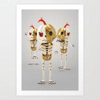 Half Life Iron Pumpkin Art Print