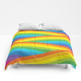 Rainbow Stripes Comforters