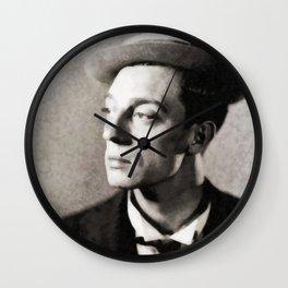 Buster Keaton, Vintage Actor Wall Clock