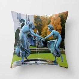 Dancing Nymphs - Den Brandt Castle - Antwerp Throw Pillow