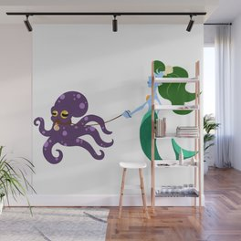 Mermaid and her Octopus Wall Mural