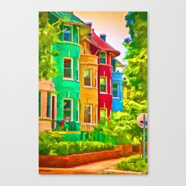 Colorful Neighborhood Canvas Print