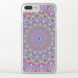 A little bit of Rainbow - Mandala Art Clear iPhone Case
