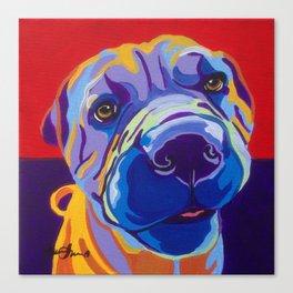 Shar pei Pop Art Dog Pet Portrait Canvas Print