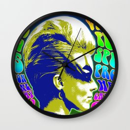 Psychedelic Music Festival Poster II Wall Clock