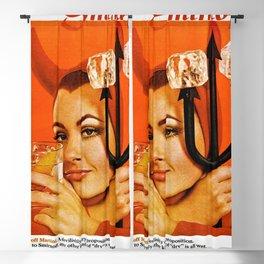 Vodka Martini, A devilishly dry proposition Vintage Pitchfork - Devil Advertisement Poster Blackout Curtain