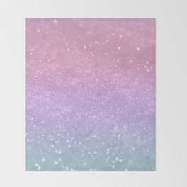 Unicorn Princess Glitter #1 (Photography) #pastel #decor #art #society6 Throw Blanket