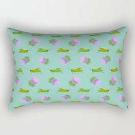Grasshoppers and Thistles Rectangular Pillow