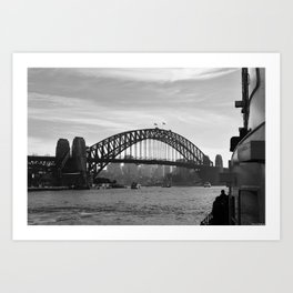 Sydney Harbour B&W Art Print
