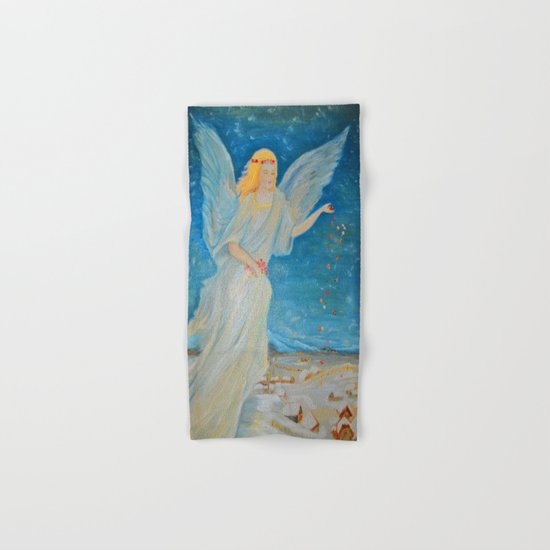 Bless me | Guardian Angels are Here | Angel of Abundance | Love Hand & Bath Towel