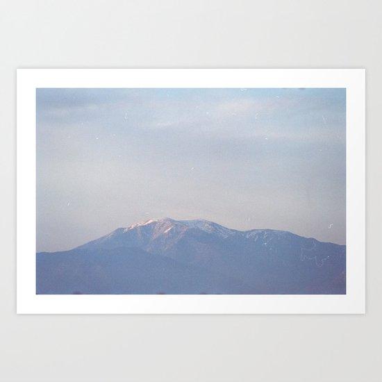 dusty mountain monday Art Print