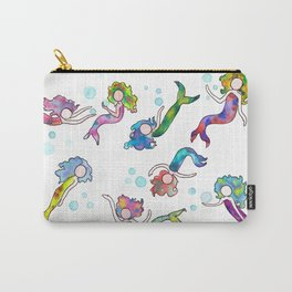 Watercolor Mermaids Carry-All Pouch