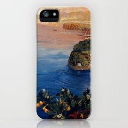 Italy Sorrento Bay of Naples vintage Italian travel iPhone Case