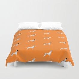 DALMATIANS ((tangerine)) Duvet Cover