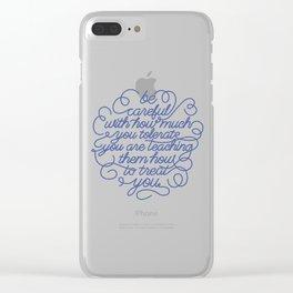 be careful Clear iPhone Case