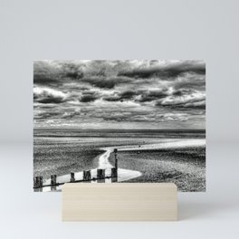 Cleethorpes Beach Monochrome Mini Art Print