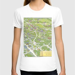 DENISON University map GRANVILLE OHIO T-shirt