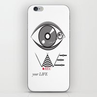 parks and rec iPhone & iPod Skins featuring We Rec your Life  by CristianBercea