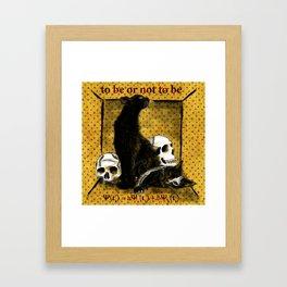 Schrödinger's Hamlet Framed Art Print