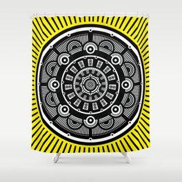 Modern Mandala (Yellow) Shower Curtain