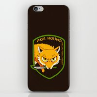 metal gear iPhone & iPod Skins featuring Metal Gear Solid - Chibi Foxhound by feriowind