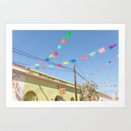 Party Flags in Mexico Art Print