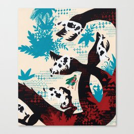 Russian Folk Tales - The Crystal Mountain Canvas Print