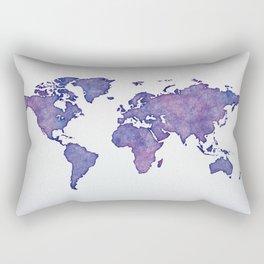 Purple World Map 02 Rectangular Pillow