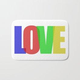 Love (Color) Bath Mat