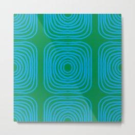 LISBOA, bright green & blue Metal Print