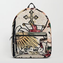 The Child Jesus (Happy New Year) Woodblock Greeting Card Backpack