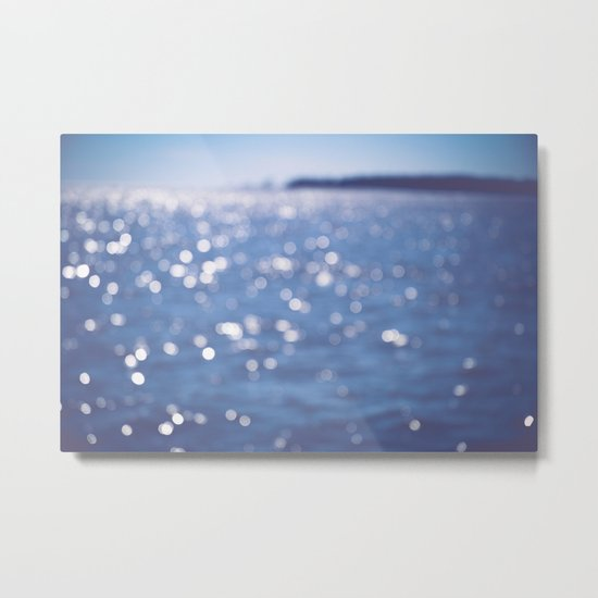 Indigo Sea Metal Print