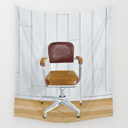 Desk chair Wall Tapestry