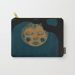 Moon With The Blues Carry-All Pouch
