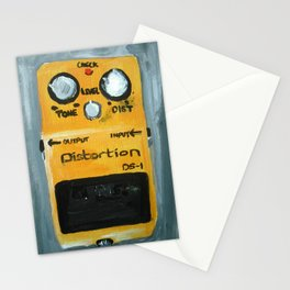 Guitar Pedal Boss DS1 Alternative Acrylic On Canvas Stationery Cards