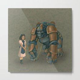 A Young Lady's Companion Automaton Metal Print
