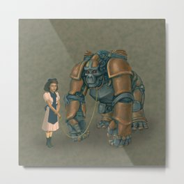 A Young Lady's Companion Automaton Metal Print