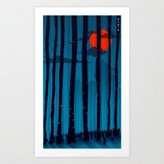 47 Ronin Blue Forest  Art Print