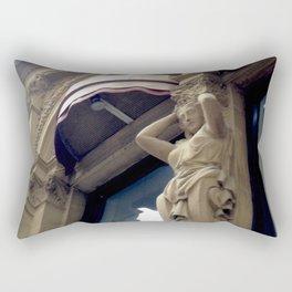 Sculptural Ornamentation Old Montreal Rectangular Pillow