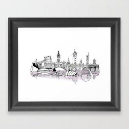 Glasgow City Skyline Framed Art Print