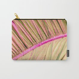 Minimal poster. leaf of palm tree (pink and yellow) Carry-All Pouch