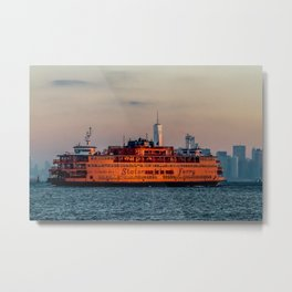 Ferry & The Freedom Tower Metal Print