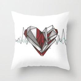 Crystallization Throw Pillow